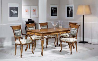 Composizione Sala da pranzo con tavolo, sedie e capotavola