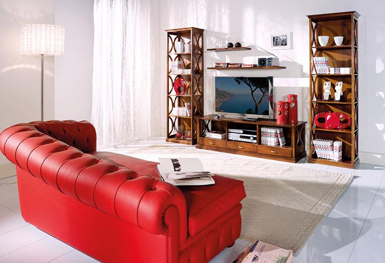 Composizione Libreria con porta Tv a 3 cassetti e mensole