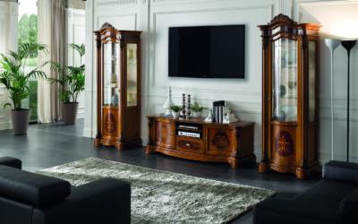 Composizione Mobile porta TV 1 con cassetto e vetrinette
