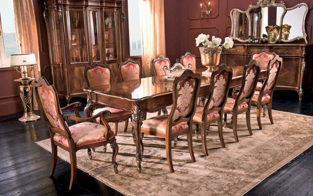 Composizione Sala da pranzo con tavolo allungabile e capotavola