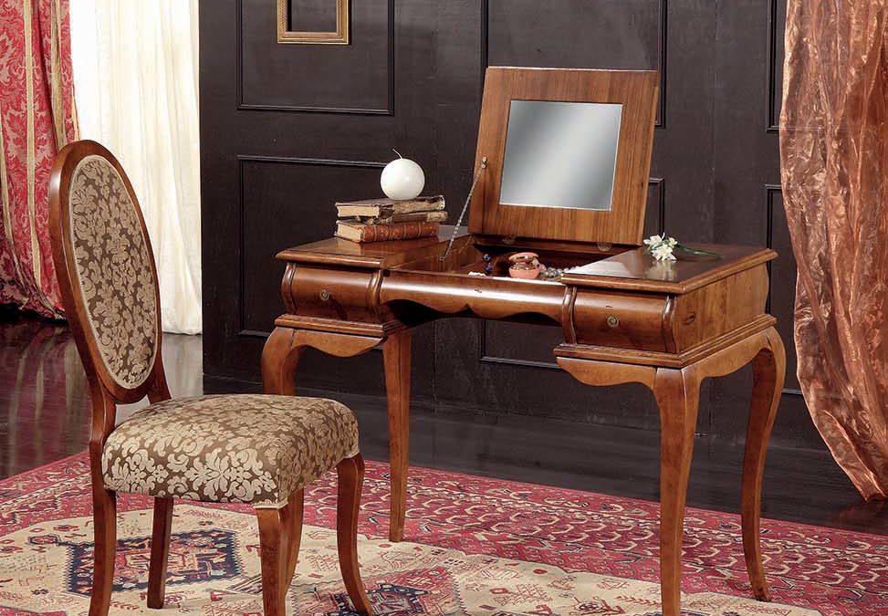 Composizione Pettiniera a 2 cassetti con sedia