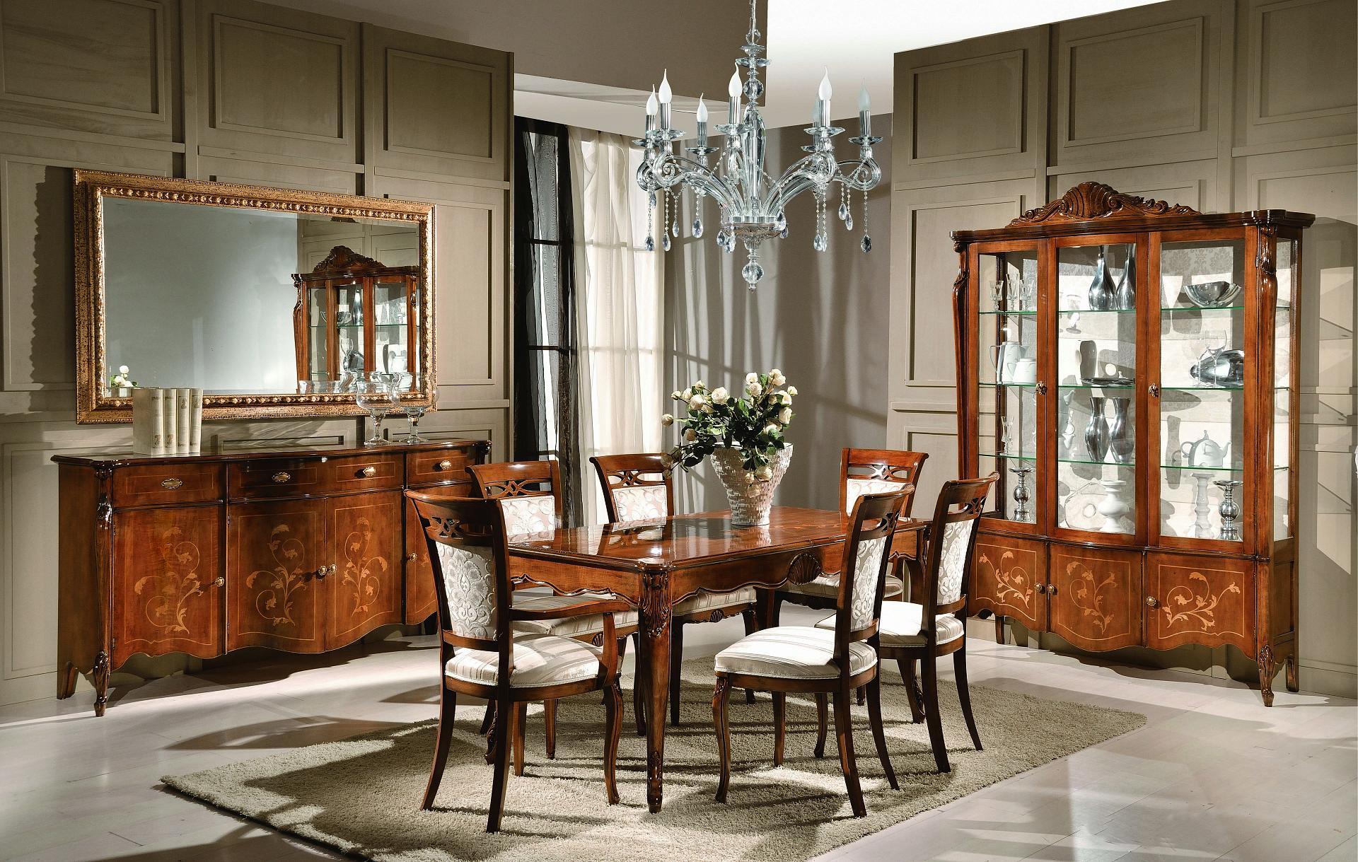 Credenza Per Sala Pranzo : Composizione sala da pranzo con credenza tavolo capotavola