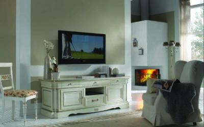 Art. GR019/LQ3 Porta TV 2 porte 4 cassetti + vano