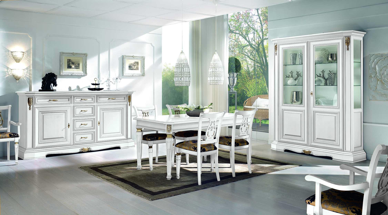 Credenza Sala Da Pranzo : Composizione sala da pranzo con tavolo credenza a porte e