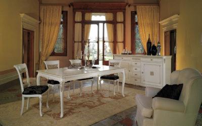 Composizione con tavolo, credenzone e sedia