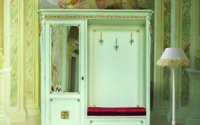 Art. GR195/LQ3 Armadio ingresso 1 porta, piede 700 Venezia, spalla curva