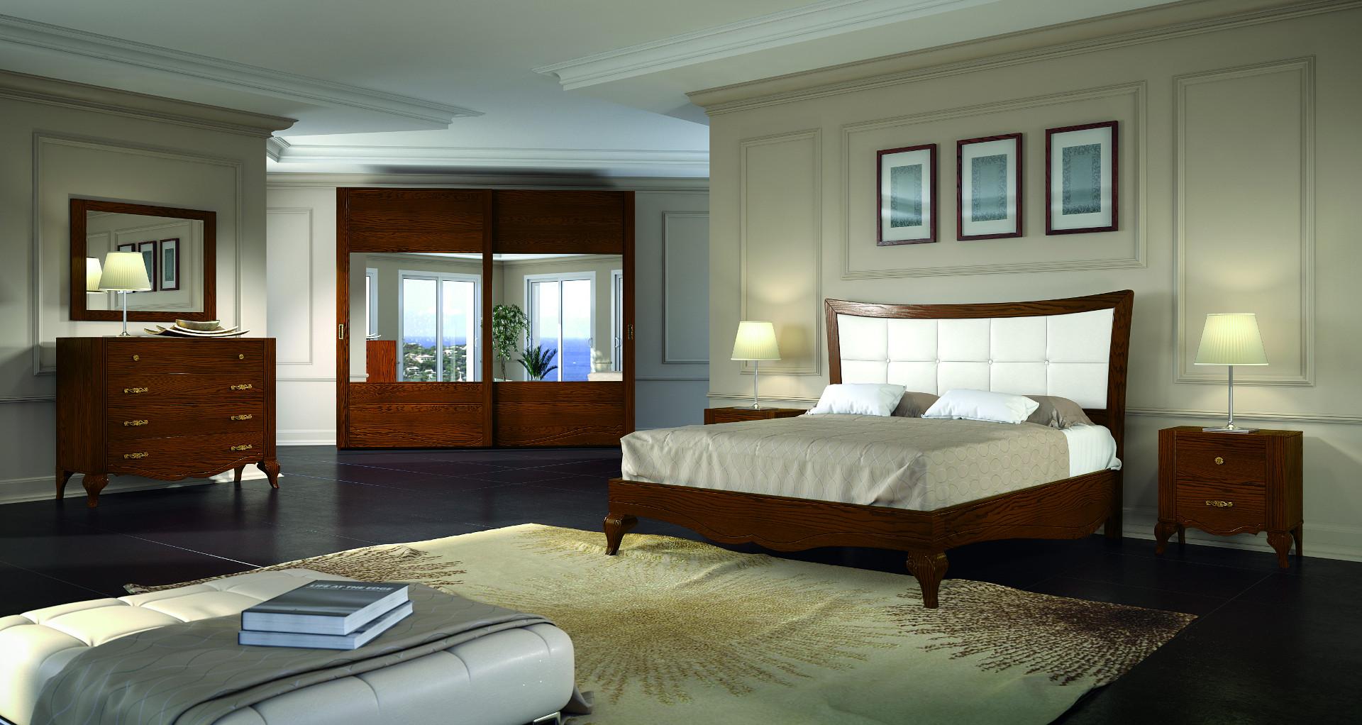 Composizione camera da letto completa di armadio, comò, comodino e ...